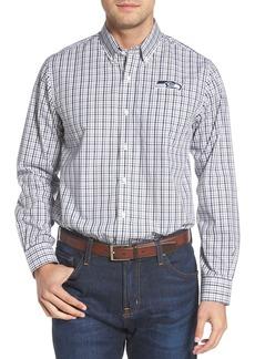 Cutter & Buck Seattle Seahawks - Gilman Regular Fit Plaid Sport Shirt