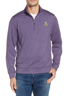 Cutter & Buck Shoreline - Minnesota Vikings Half Zip Pullover