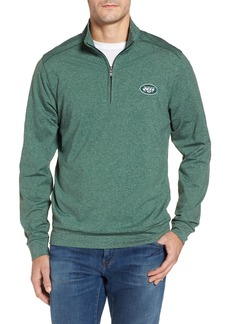 Cutter & Buck Shoreline - New York Jets Half Zip Pullover