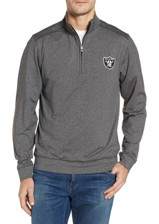 Cutter & Buck Shoreline - Oakland Raiders Half Zip Pullover