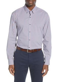 Cutter & Buck Soar Classic Fit Mini Check Button-Down Performance Shirt
