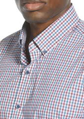 Cutter & Buck Soar Classic Fit Mini Check Button-Down Performance Shirt
