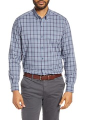 Cutter & Buck Soar Classic Fit Plaid Performance Button-Down Shirt
