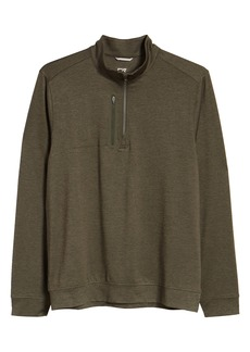 Cutter & Buck Stealth Regular Fit Half Zip Pullover