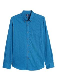 Cutter & Buck Strive Classic Fit Leaf Print Button-Down Shirt