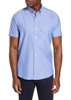 Cutter & Buck Strive Three Bars Short Sleeve Button-Down Sport Shirt