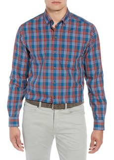 Cutter & Buck Sutton Regular Fit Non-Iron Check Sport Shirt