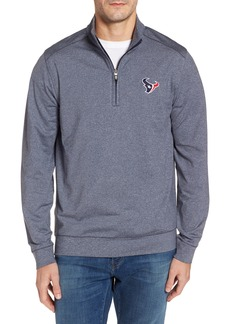 Cutter & Buck Texans Shoreline Quarter Zip Pullover