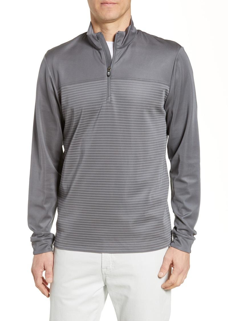 Cutter & Buck Traverse Regular Fit Stripe Quarter Zip Pullover