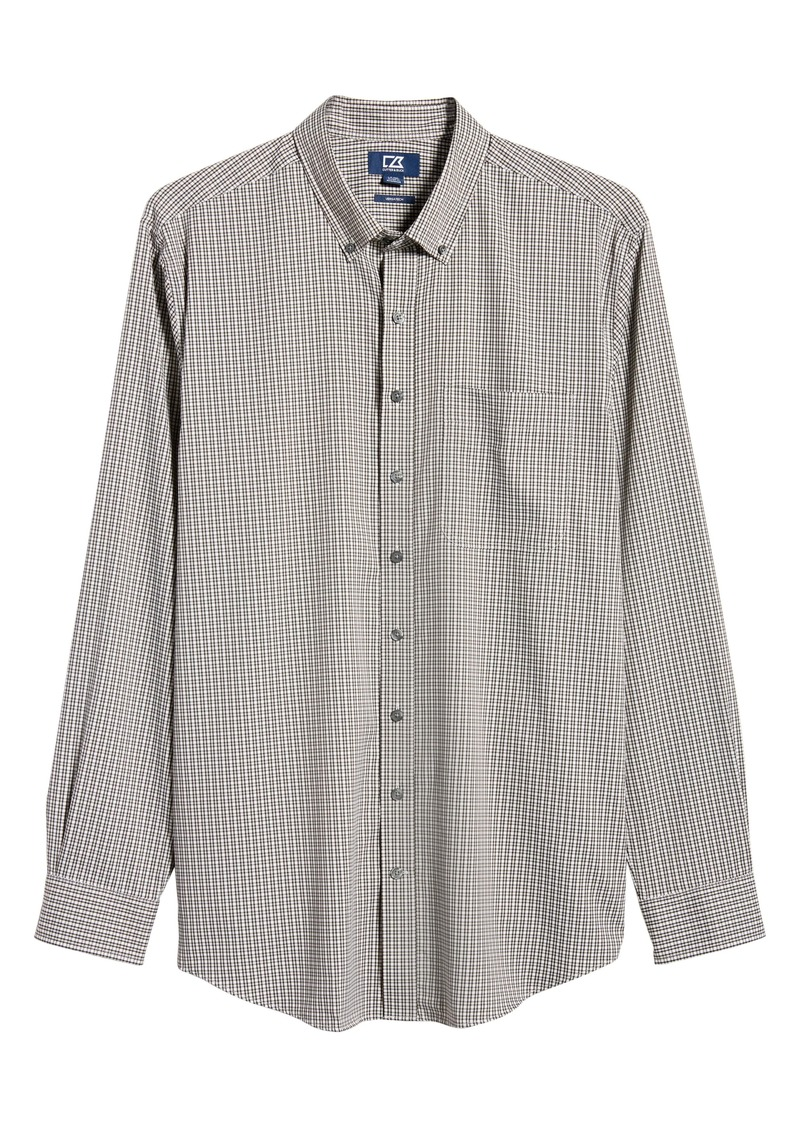 Cutter & Buck Versatech Multi Check Classic Fit Button-Up Performance Shirt