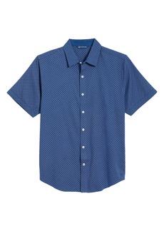 Cutter & Buck Windward Jigsaw Short Sleeve Button-Up Shirt