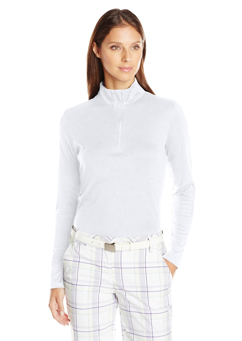 Cutter & Buck Women's Belfair Pima Half-Zip Long Sleeve Pullover
