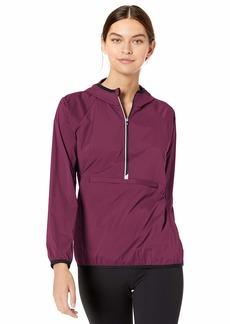 Cutter & Buck Women's Breaker Half Zip Long Sleeve Hooded Popover Jacket  XXL