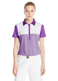 Cutter & Buck Women's CB Drytec Short Sleeve Bailey Block Polo
