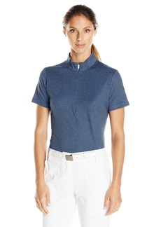 Cutter & Buck Women's CB Drytec Short Sleeve Geneva Zip Mock