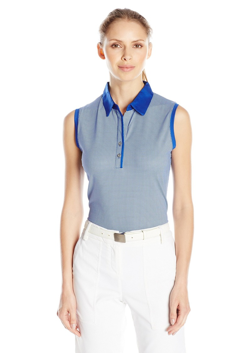 Cutter & Buck Women's CB Drytec Short Sleeve Laine Printed Polo