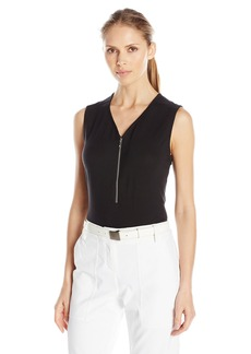 Cutter & Buck Women's CB Drytec Sleeveless Julienne Zip V-Neck