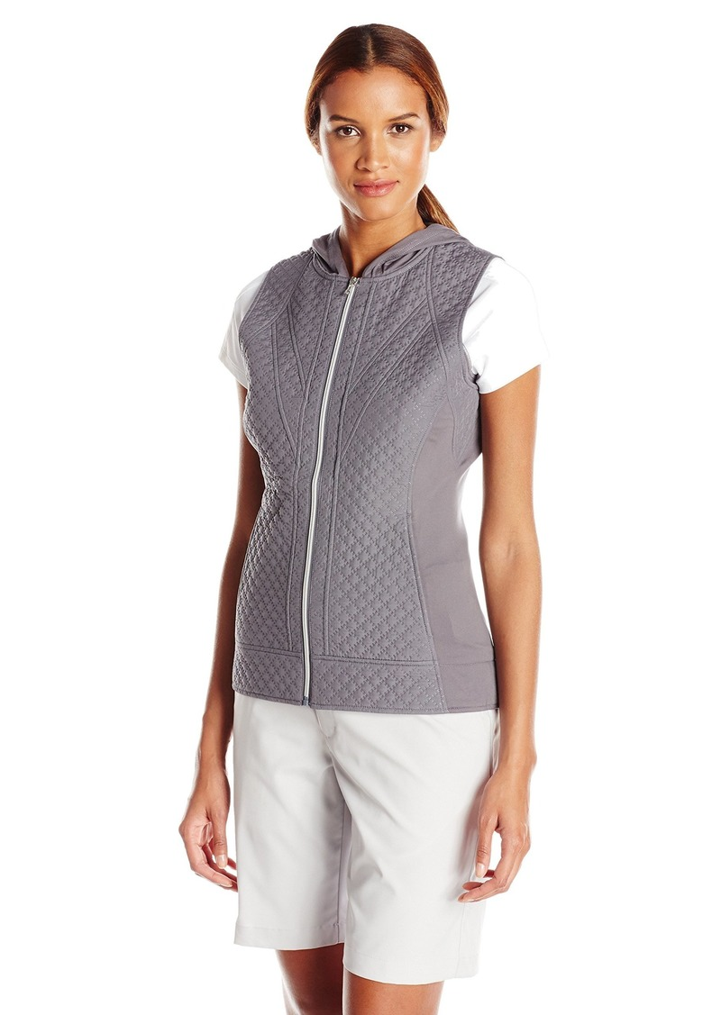 Cutter & Buck Women's Cb Weathertec Aura Hooded Vest