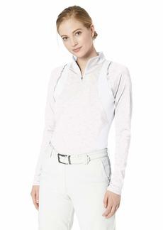 Cutter & Buck Women's Drytec UPF 50+ Long Sleeve Elite Contour Mock Jersey Shirt