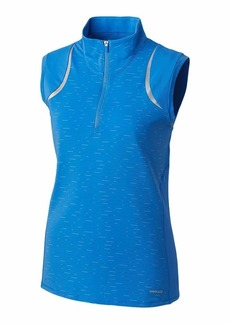 Cutter & Buck Women's Drytec UPF 50+ Sleeveless Elite Contour Mock Jersey Shirt