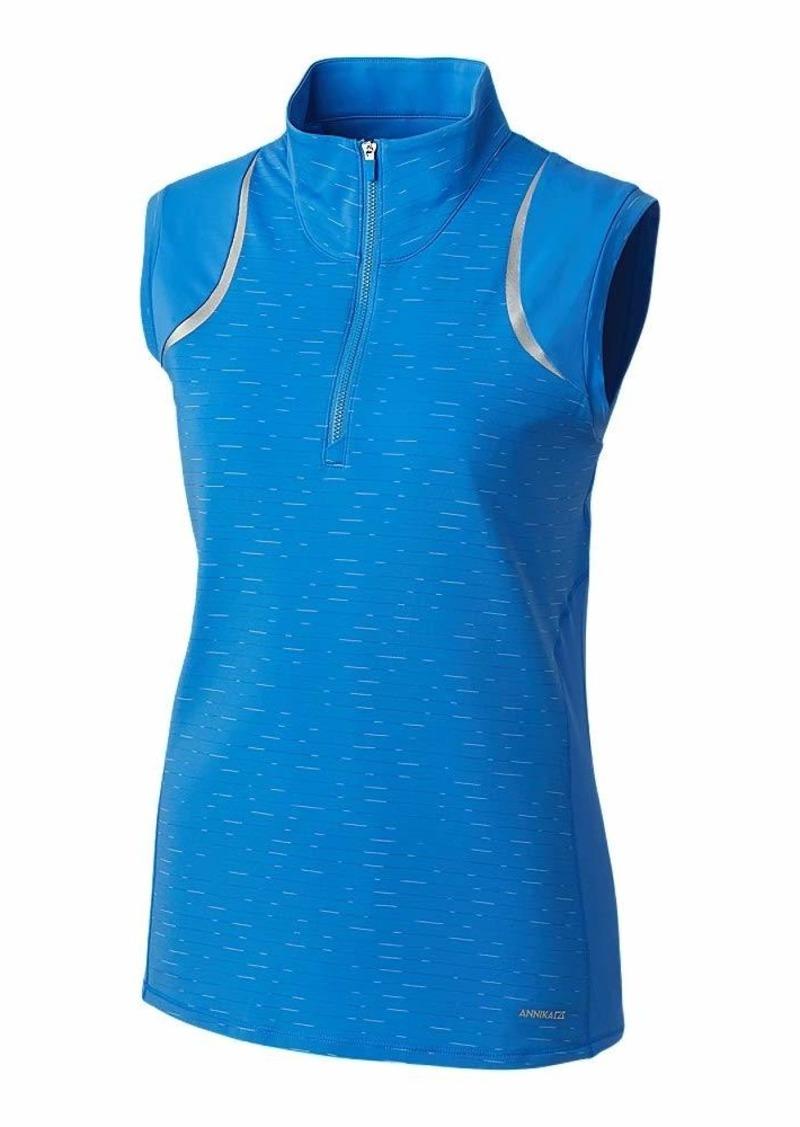 Cutter & Buck Women's Drytec UPF 50+ Sleeveless Elite Contour Mock Jersey Shirt