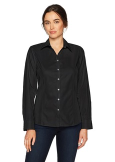 Cutter & Buck Women's Epic Easy Care Long Sleeve Fine Twill Collared Shirt  XXXL