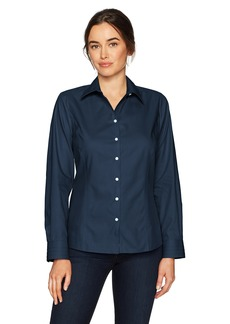 Cutter & Buck Women's Epic Easy Care Long Sleeve Fine Twill Collared Shirt  M