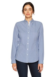 Cutter & Buck Women's Epic Easy Care Long Sleeve Gingham Collared Shirt  L