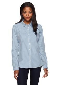 Cutter & Buck Women's Epic Easy Care Long Sleeve Mini Bengal Collared Shirt  L