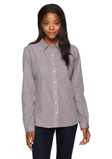 Cutter & Buck Women's Epic Easy Care Long Sleeve Mini Bengal Collared Shirt  M