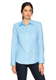 Cutter & Buck Women's Epic Easy Care Long Sleeve Nailshead Collared Shirt  L