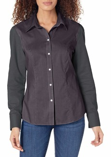 Cutter & Buck Women's Epic Easy Care Long Sleeve Nailshead Collared Shirt  XXL