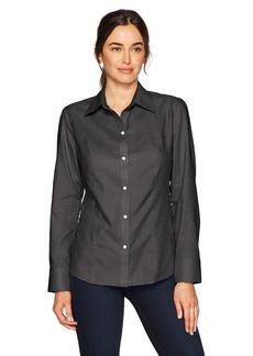 Cutter & Buck Women's Epic Easy Care Long Sleeve Nailshead Collared Shirt  XXXL