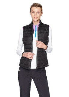 Cutter & Buck Women's Lightly Quilted Reflective Post Alley Mock Vest with Pockets