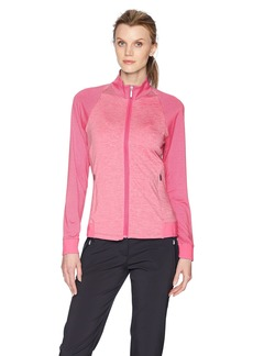 Cutter & Buck Women's Moisture Wicking 50+ UPF Jersey Lena Zip Jacket Pockets