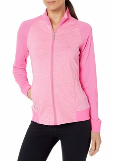 Cutter & Buck Women's Moisture Wicking 50+ UPF Jersey Lena Zip Jacket with Pockets