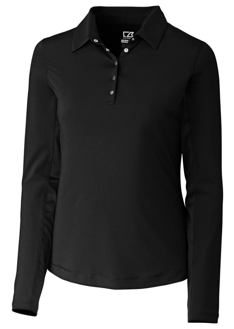 Cutter & Buck Women's Moisture Wicking 50+ UPF Long-Sleeve Luca Polo Shirt  XL