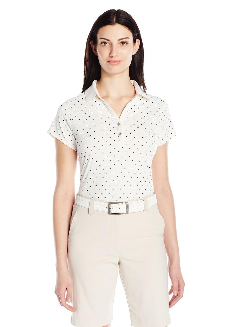 Cutter & Buck Women's Moisture Wicking Cap-Sleeve Aubrey Printed Polo Shirt  L
