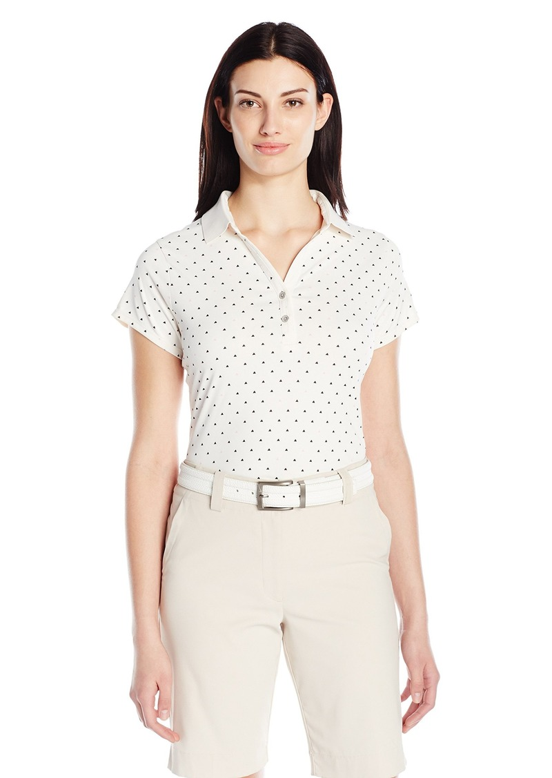 Cutter & Buck Women's Moisture Wicking Cap-Sleeve Aubrey Printed Polo Shirt  XL