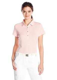 Cutter & Buck Women's Moisture Wicking Cap-Sleeve Leona Printed Polo Shirt  M