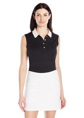 Cutter & Buck Women's Moisture Wicking Sleeveless Carmen Polo Shirt  L