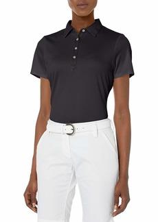 Cutter & Buck Women's Moisture Wicking Tonal Stripe Fiona Short Sleeve Polo Shirt