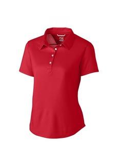 Cutter & Buck Women's Moisture Wicking Tonal Stripe Fiona Short Sleeve Polo Shirt Cardinal red