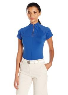 Cutter & Buck Women's Moisture Wicking UPF 50+ Cap-Sleeve Above Board Mock Active Shirt  S