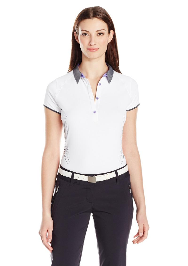 Cutter & Buck Women's Moisture Wicking UPF 50+ Cap-Sleeve Afton Polo Shirt  M