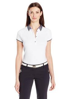 Cutter & Buck Women's Moisture Wicking UPF 50+ Cap-Sleeve Afton Polo Shirt  S