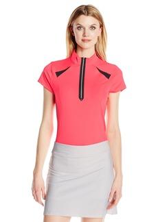 Cutter & Buck Women's Moisture Wicking UPF 50+ Cap-Sleeve Hollis Mock Neck Active Shirt  XS