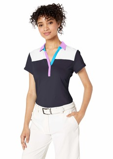 Cutter & Buck Women's Moisture Wicking UPF 50+ Cap Sleeve Stretch Polo Shirt  XXLarge