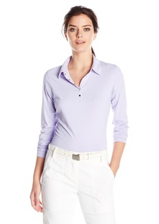 Cutter & Buck Women's Moisture Wicking UPF 50+ Long-Sleeve Luca Polo Shirt  L