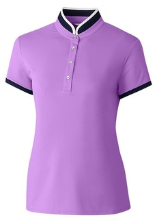Cutter & Buck Women's Moisture Wicking UPF 50+ Mock Neck Cap Sleeve Polo Shirt